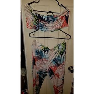 Tropical Bikini Cover up, only worn in pic